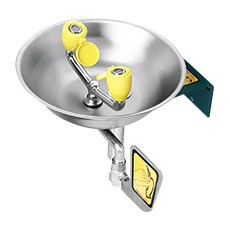 WALL MOUNTED EMERGENCY EYEWASH (Stainless Steel Bowl)