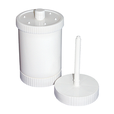 JAR / CAP / LID FOR AIR-DYNAMIC, WHITE (w/Spindle, 300 – 390 mL)